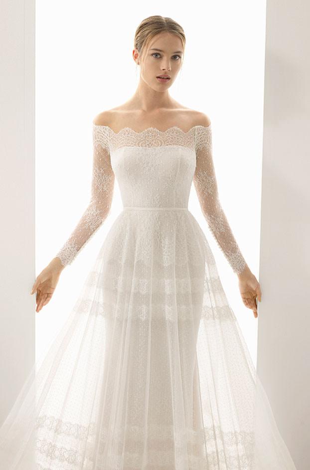 """Brautkleid von Rosa Clara Couture, Model """"Paris"""" bei Traumkleid – Exklusive Brautmode Düssedorf"""