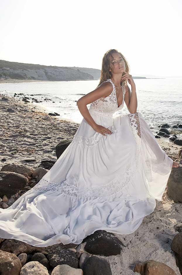Brautkleid von Herve Paris, Model Terssac bei Traumkleid – Exklusive Brautmode Düssedorf