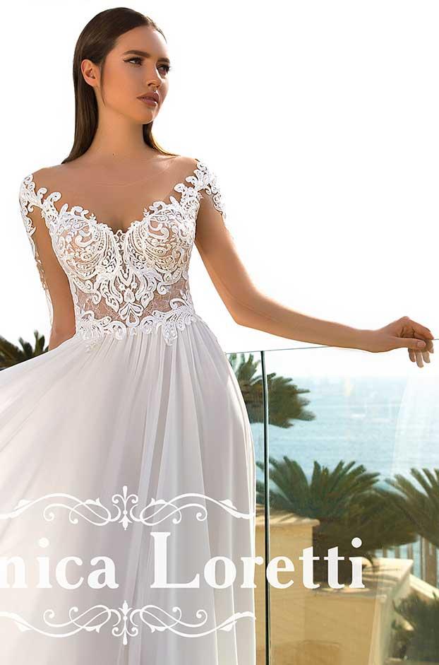 Brautkleid von Monica Loretti, Model Princia bei Traumkleid – Exklusive Brautmode Düssedorf